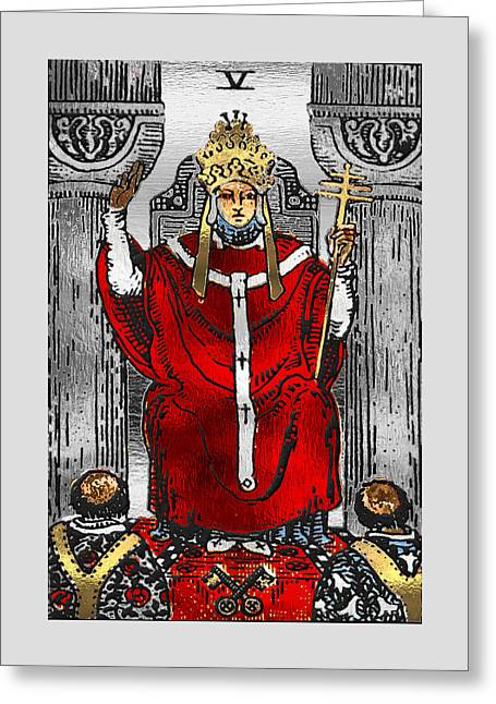 Tarot Gold Edition - Major Arcana - The Hierophant Greeting Card