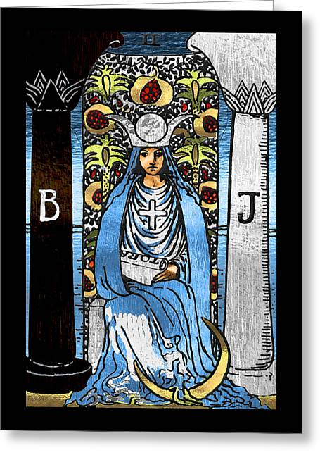 Tarot Gold Edition - Major Arcana - The High Priestess Greeting Card