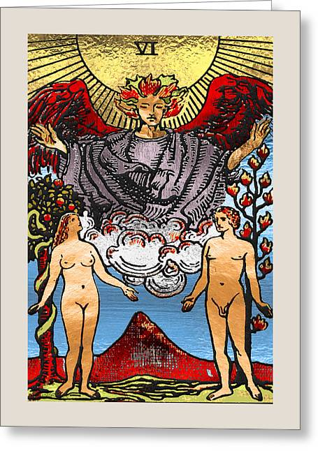 Tarot Gold Edition - Major Arcana - The Lovers Greeting Card