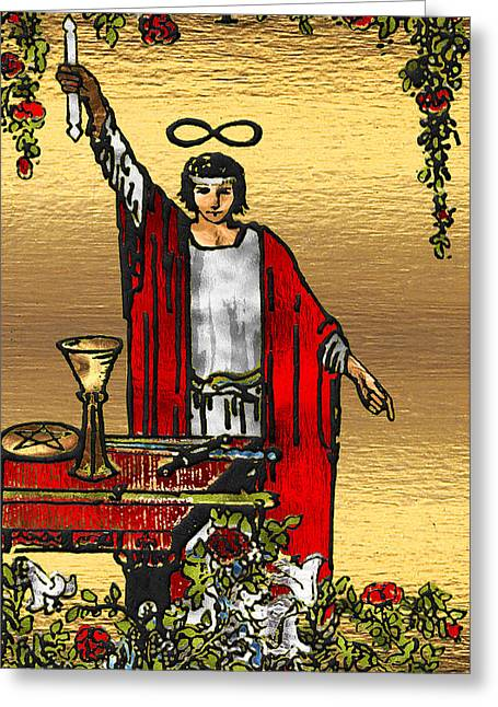 Tarot Gold Edition - Major Arcana - The Magician Greeting Card