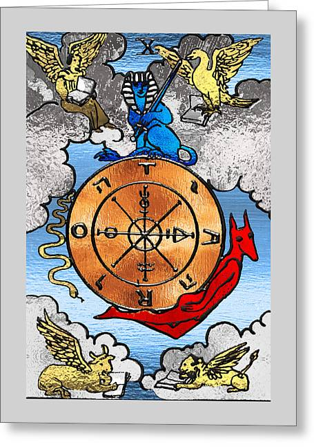 Tarot Gold Edition - Major Arcana - Wheel Of Fortune Greeting Card