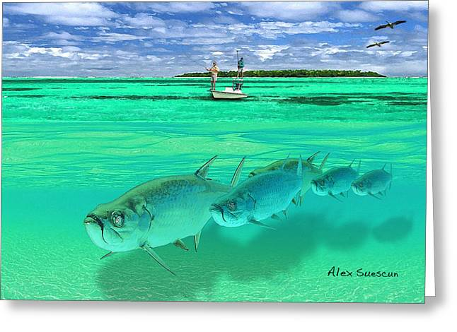 Tarpon Shot Greeting Card