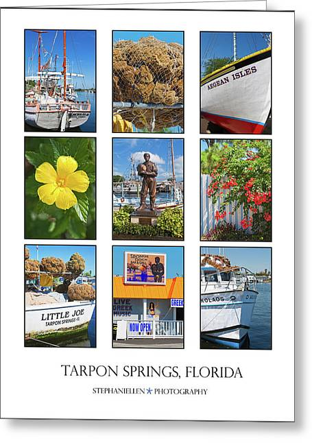 Tarpon Springs Poster Greeting Card by Stephanie Hayes