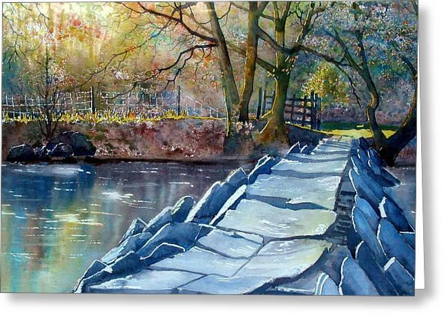 Tarr Steps Revisited Greeting Card
