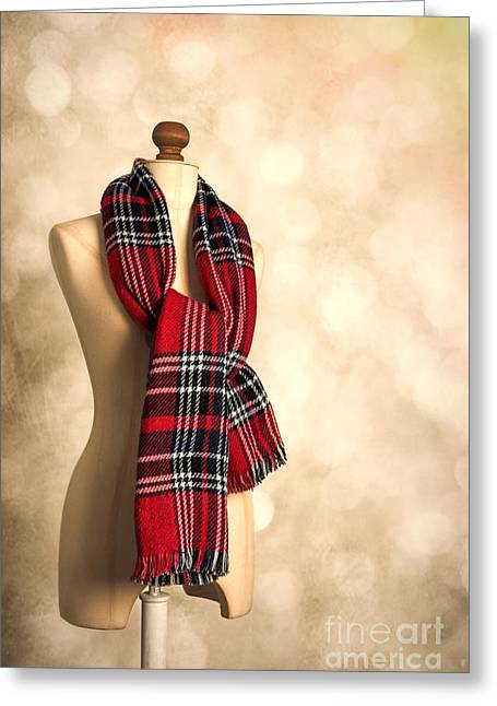Tartan Scarf Greeting Card