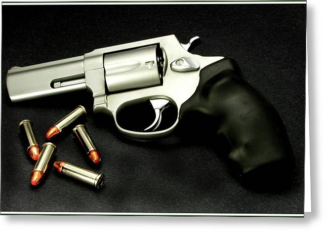 Greeting Card featuring the photograph Tarus .38 Special by Ron Roberts