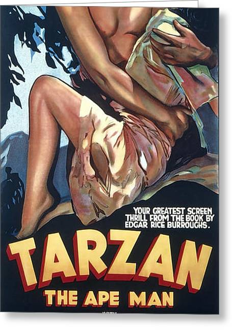 Tarzan The Ape Man Lobby Promotion 1932 Greeting Card by Daniel Hagerman