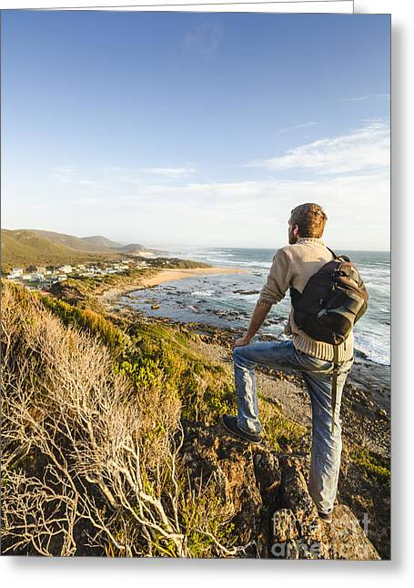 Tasmania Bushwalking Tourist Greeting Card by Jorgo Photography - Wall Art Gallery