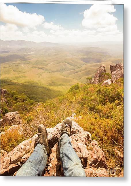 Tasmania Bushwalking Views Greeting Card