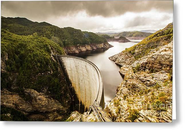 Tasmania Hydropower Dam Greeting Card