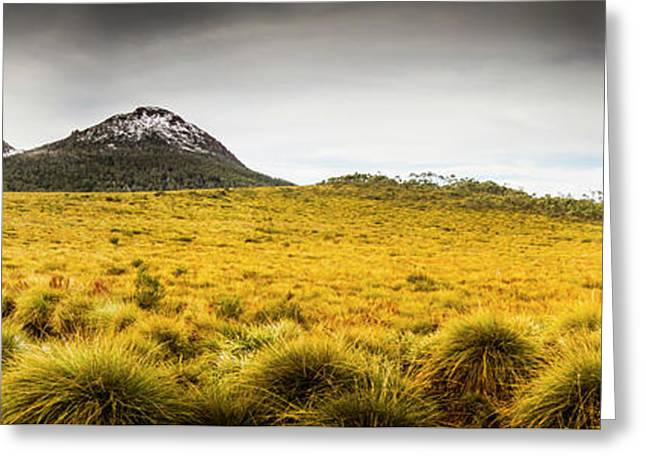 Tasmania Mountains Of The East-west Great Divide  Greeting Card