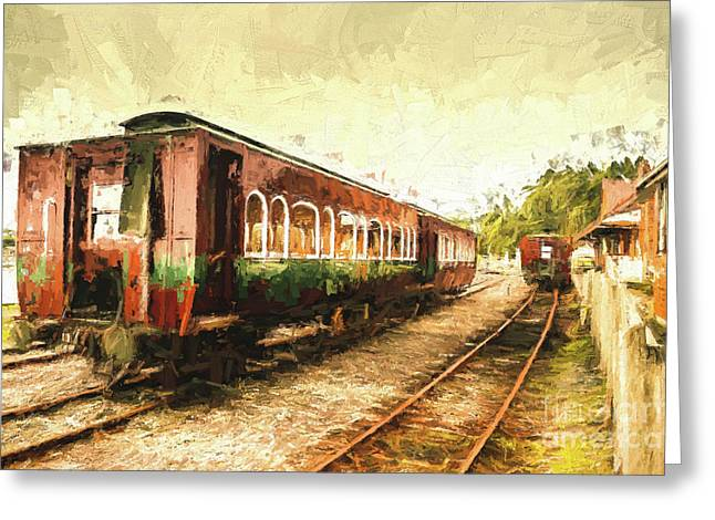 Tasmania West Coast Wilderness Train Art Greeting Card by Jorgo Photography - Wall Art Gallery