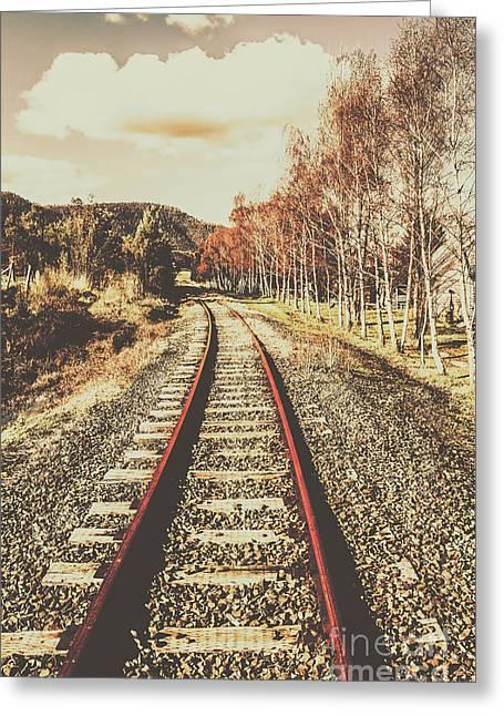 Tasmanian Country Tracks Greeting Card