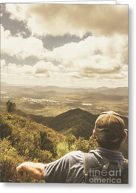 Tasmanian Hiking View Greeting Card