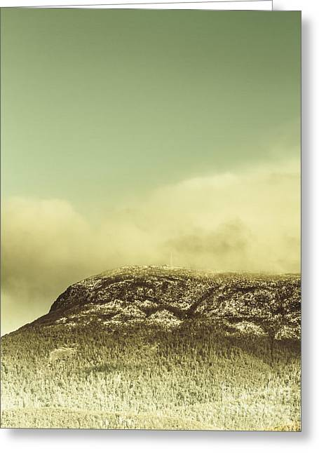 Tasmanian Mountain Ranges Greeting Card by Jorgo Photography - Wall Art Gallery