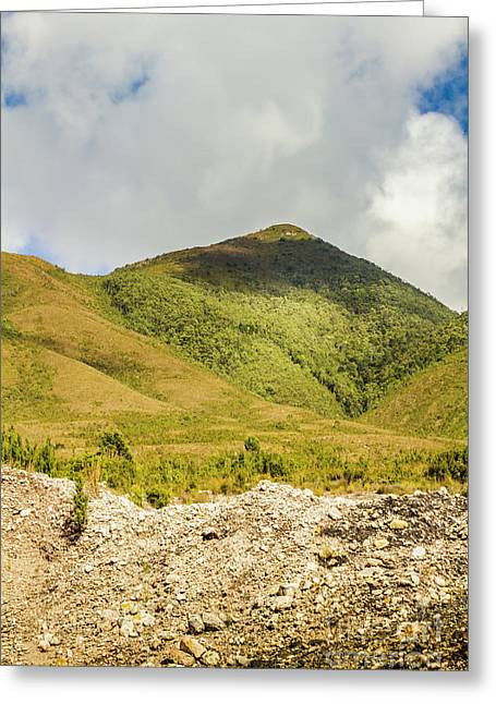 Tasmanian Mountains Greeting Card by Jorgo Photography - Wall Art Gallery
