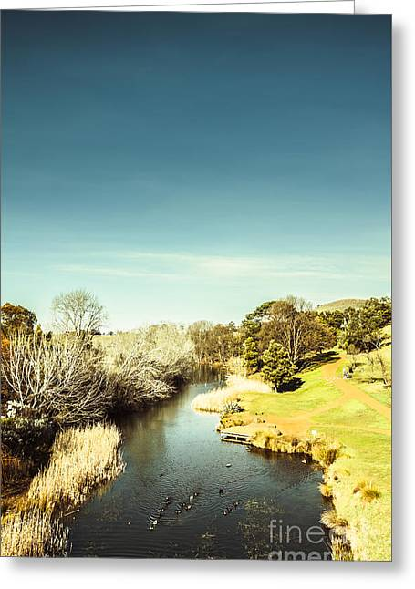 Tasmanian River Landscapes Greeting Card by Jorgo Photography - Wall Art Gallery