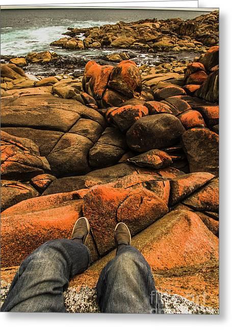 Tasmanian Tourist Kicking Back  Greeting Card