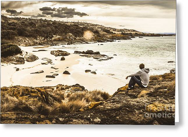 Tassie Adventurer Greeting Card by Jorgo Photography - Wall Art Gallery