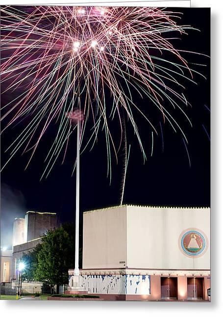 Taste Of Dallas 2015 Fireworks Greeting Card