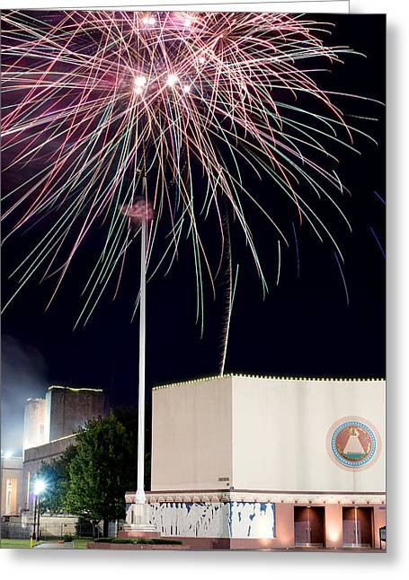 Taste Of Dallas 2015 Fireworks Greeting Card