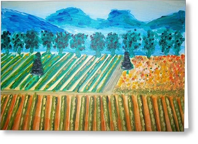 Taste The Vineyard Greeting Card by Alexandra Torres