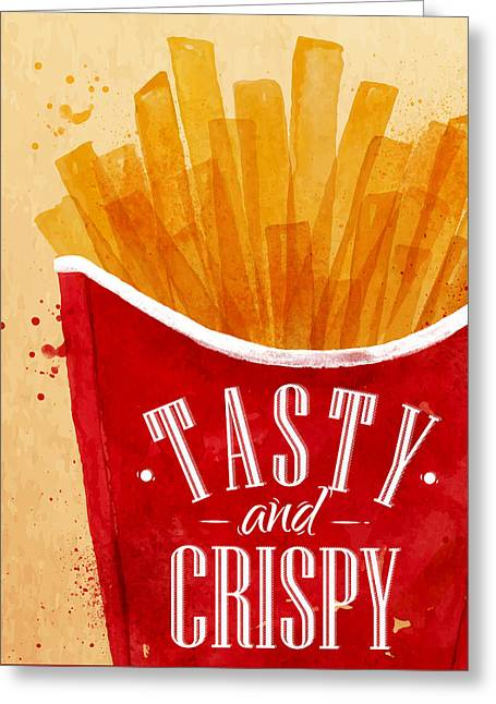 Tasty And Crispy Greeting Card by Aloke Design