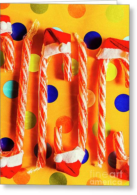 Tasty Candy Cane Sweets Greeting Card