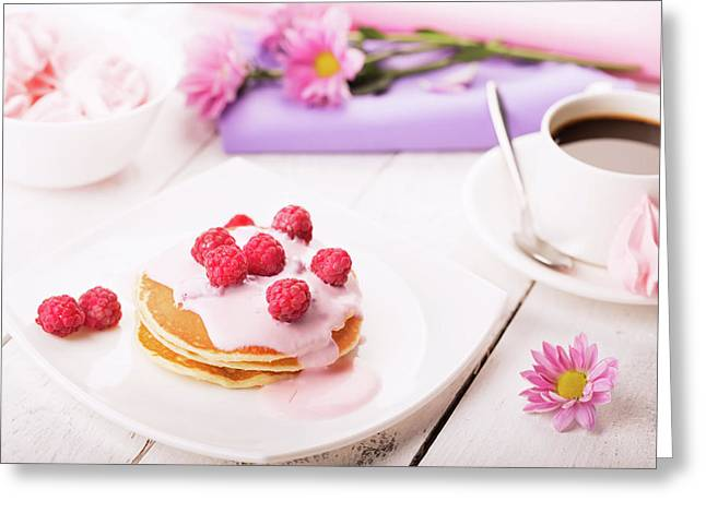 Tasty Pancakes  Greeting Card by Vadim Goodwill