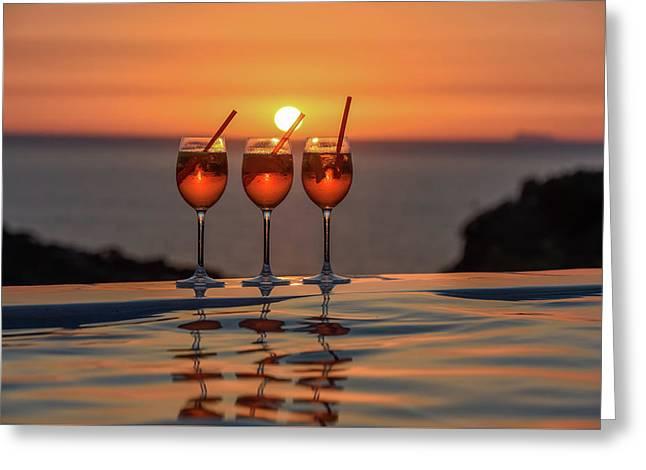 Tasty Sunset Greeting Card