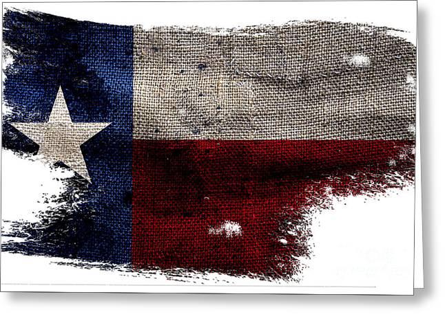 Tattered Lone Star Flag Greeting Card
