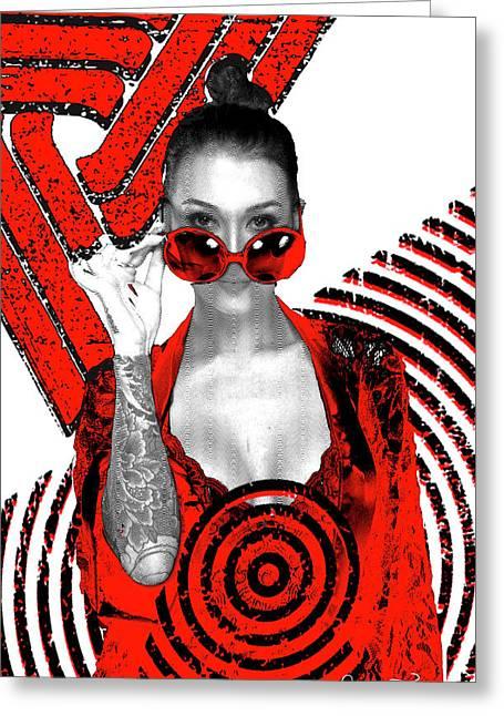 Tattoed Greeting Card by Elmira Tissenko