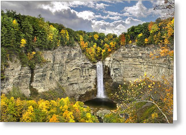 Taughannock Falls Autumn Greeting Card