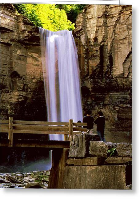Taughannock Falls Greeting Card by Roger Soule