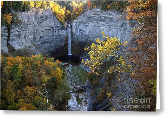 Greeting Card featuring the photograph Taughannock Falls by Vilas Malankar