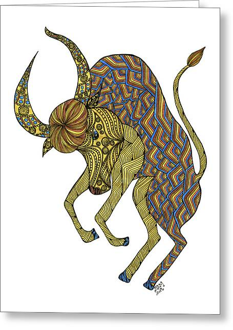 Taurus Greeting Card