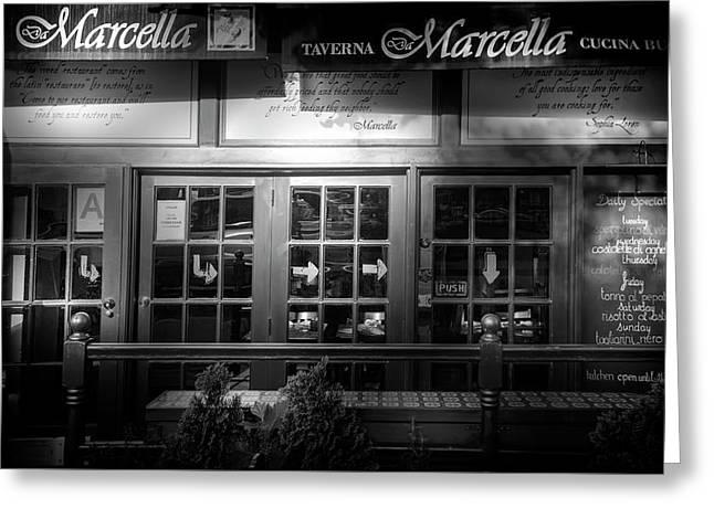 Taverna Greeting Card by Mark Andrew Thomas