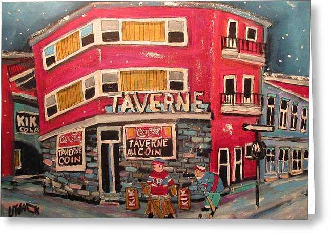 Taverne Au Coin Faubourg A M'lasse 1963 Greeting Card