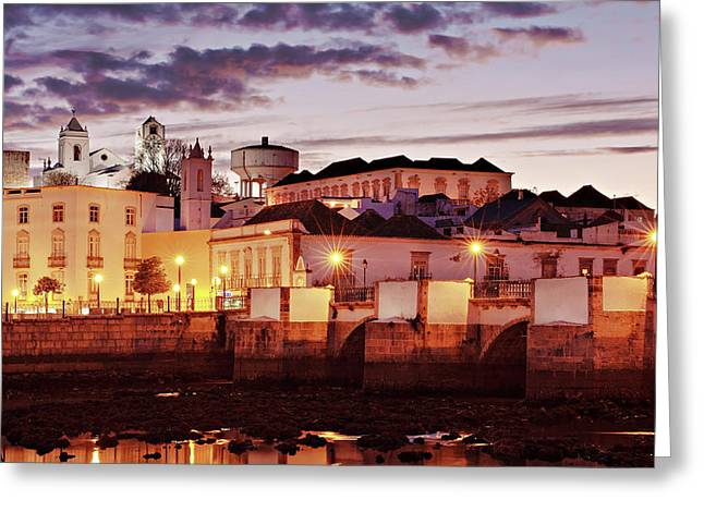 Tavira At Dusk - Portugal Greeting Card