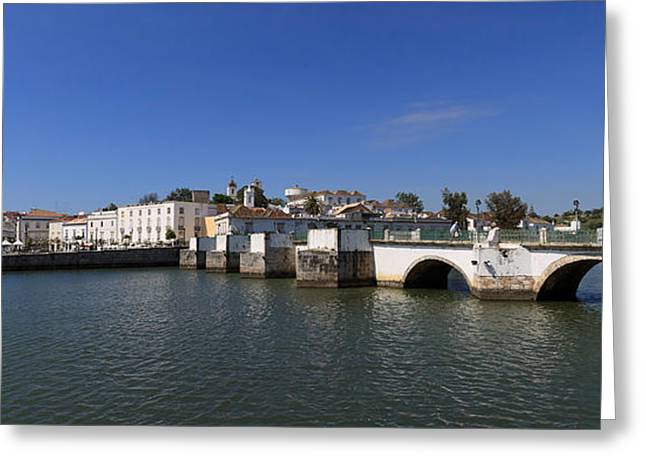 Tavira Ponte Romana And The River Greeting Card by Louise Heusinkveld