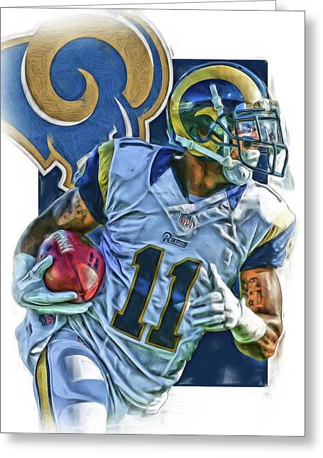Tavon Austin Los Angeles Rams Oil Art 2 Greeting Card