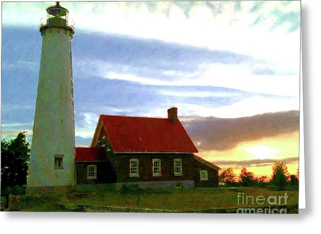 Tawas Point Eve Greeting Card by Desiree Paquette