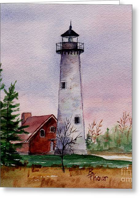 Tawas Point Light Greeting Card