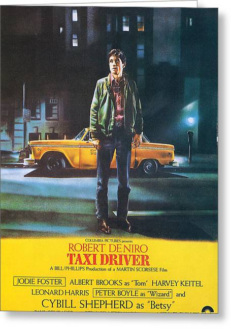 Robert De Niro Greeting Cards - Taxi Driver - Robert De Niro Greeting Card by Nomad Art And  Design