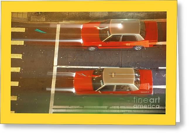 Taxis Of Hong Kong Greeting Card