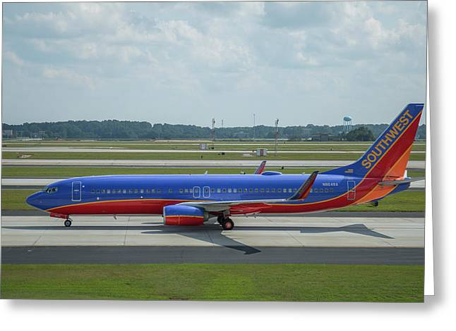 Taxiway Beauty Southwest Jet N8648a Art Greeting Card