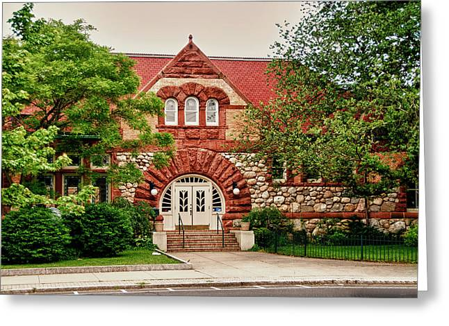 Frank Feliciano Greeting Cards - Taylor Library Milford Connecticut Greeting Card by Frank Feliciano