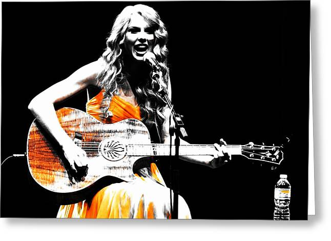 Taylor Swift 9s Greeting Card by Brian Reaves