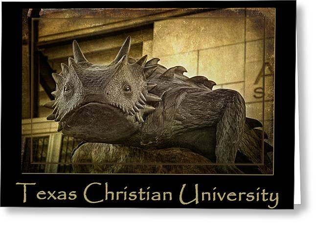 Tcu Frog Poster 2015 Greeting Card by Joan Carroll