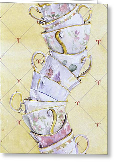 Tea - Ter Totter Greeting Card by Leah Wiedemer